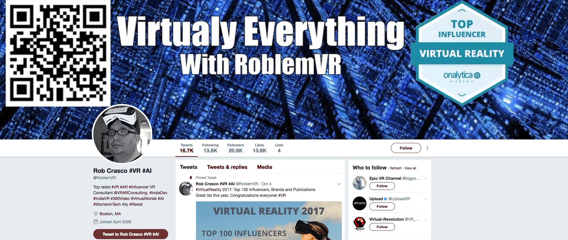 Rob Crasco #VR #AI Influencer