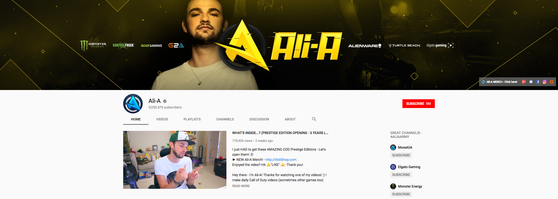 Ali-A Top Gaming Influencers