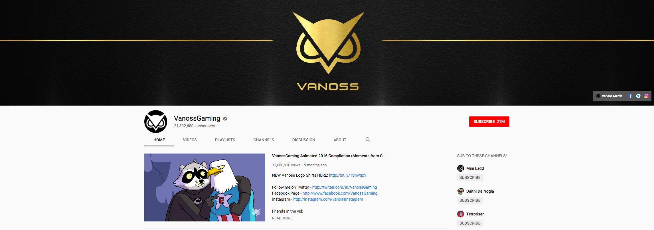VanossGaming Top Gaming Influencers