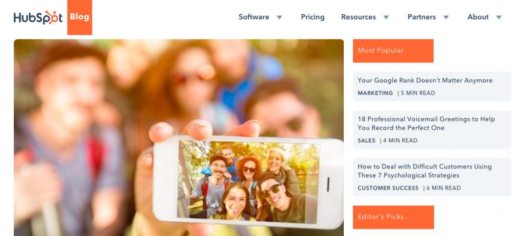 Hubspot Content Marketing Blog