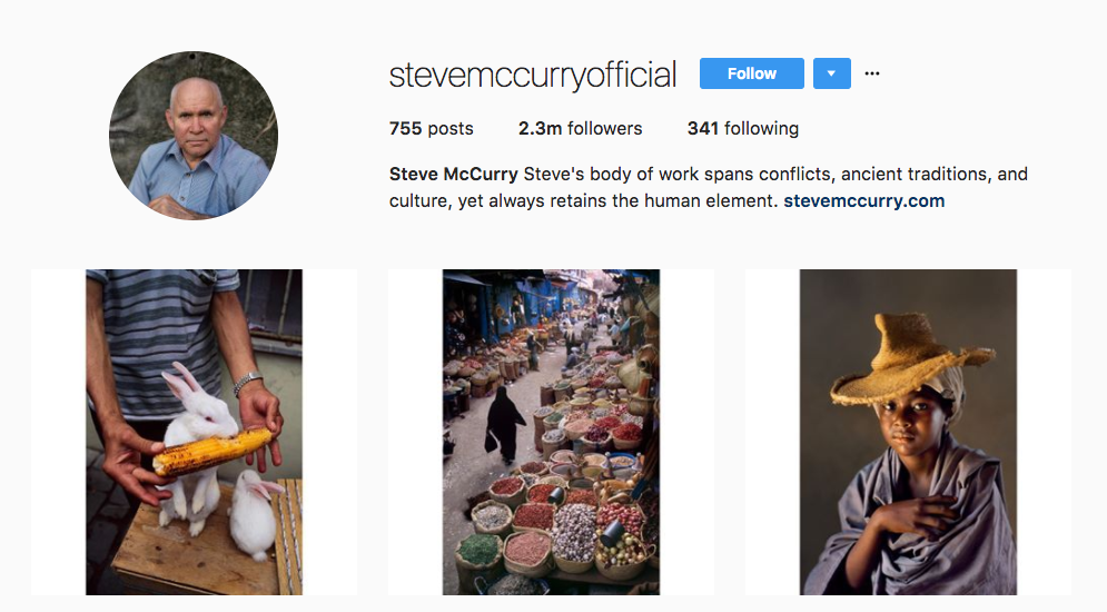 Steve McCurry Photography Influencer