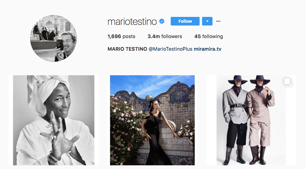 Mario Testino Top Photography Influencer