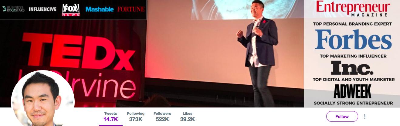 Leonard Kim top marketing influencer