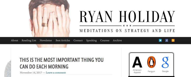 Ryan Holiday Top Blog Content Writer