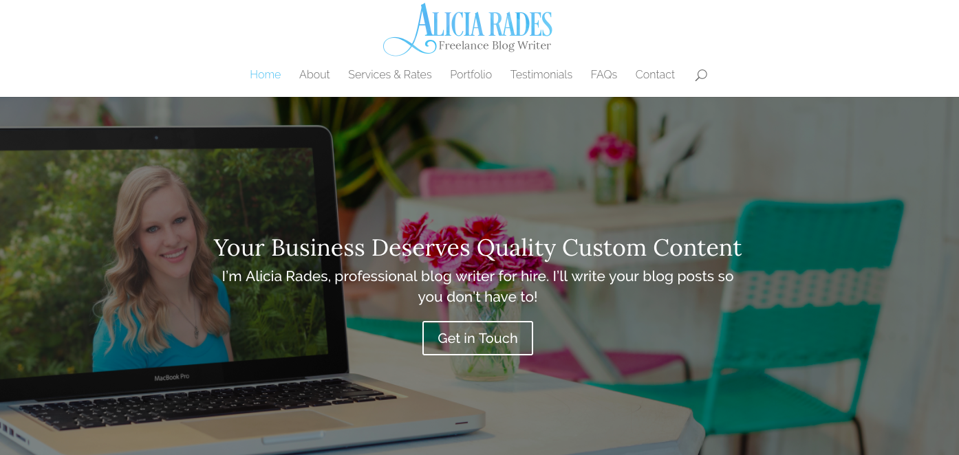 Alicia Rades Top Blog Content Writer