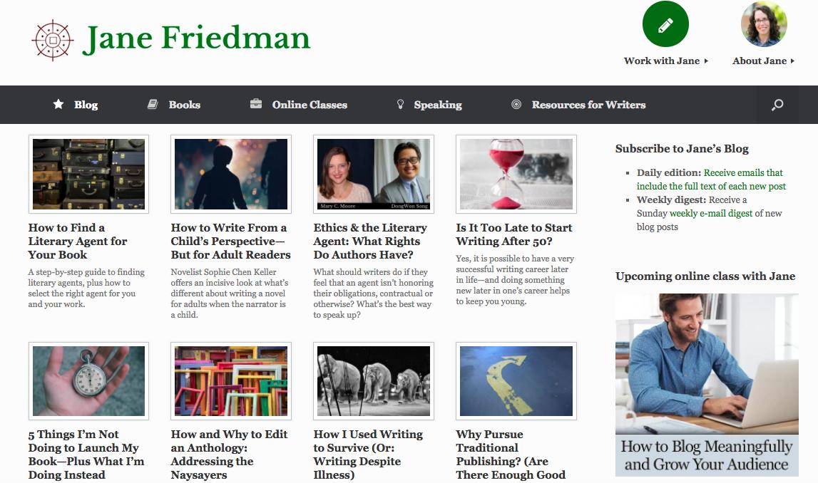 Jane Friedman Top Blog Content Writer