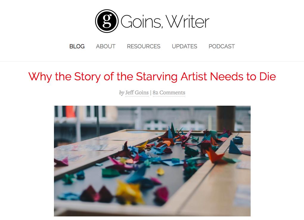 Jeff Goins Top Blog Content Writer