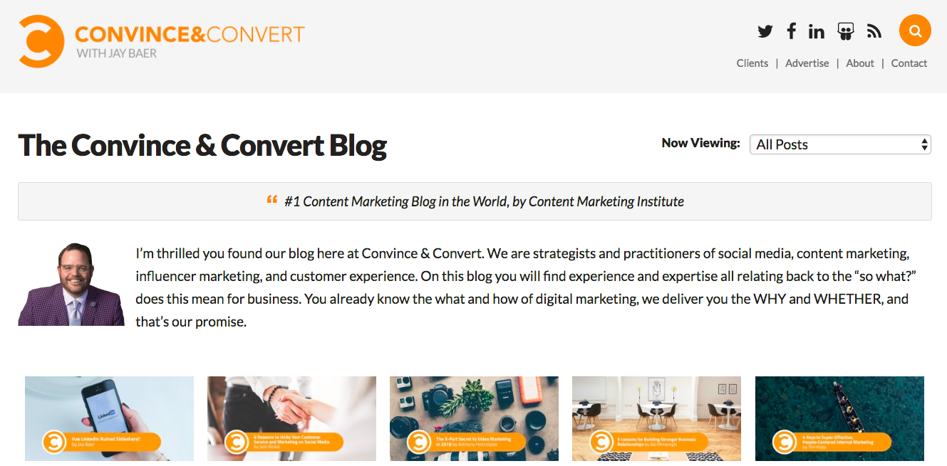 Jay Baer Top Blog Content Writer
