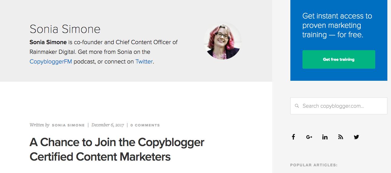 Sonia Simon TOp Blog Content writer