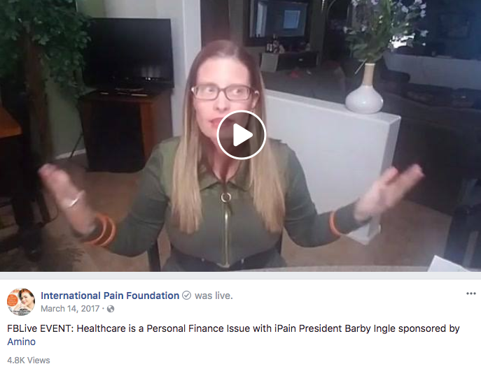 International Pain Foundation Health Influencer Marketing