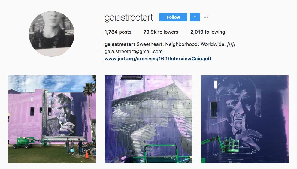 Gaia Street Art influencers