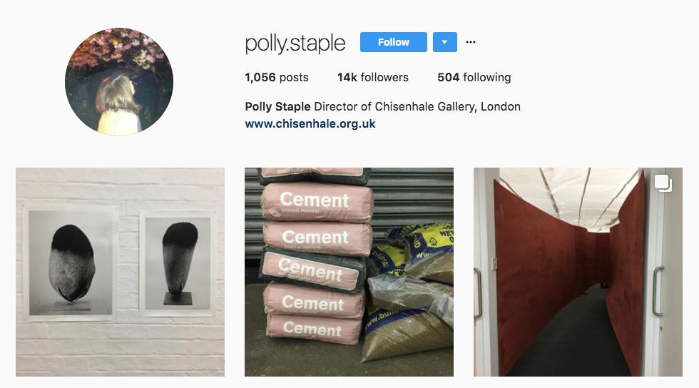 Polly Staple top art influencer