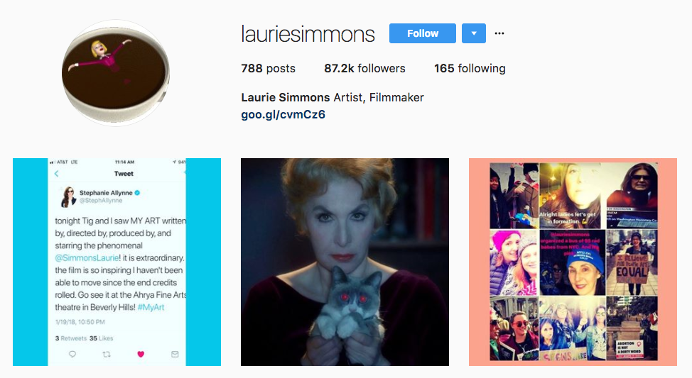 Laurie Simmons top art influencer