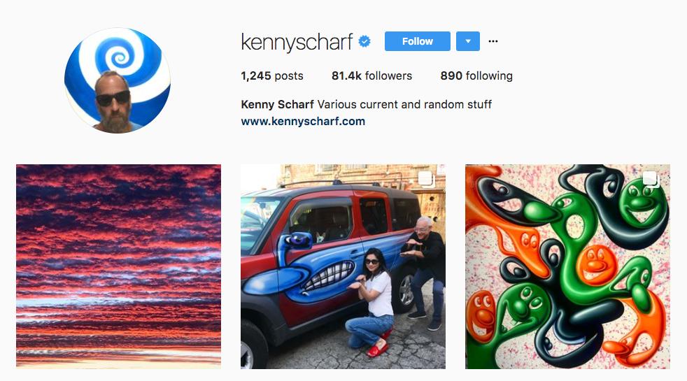 Kenny Scharf top art influencer