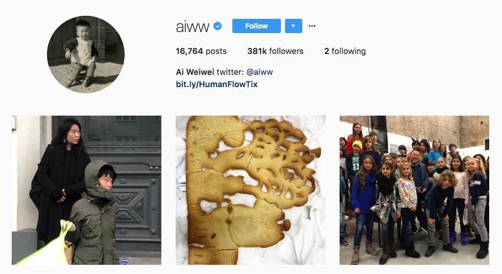 Ai Weiwei top art influencer