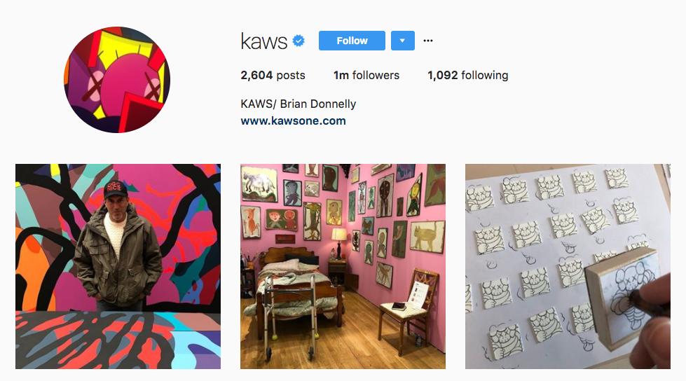 KAWS Top Art Influencer