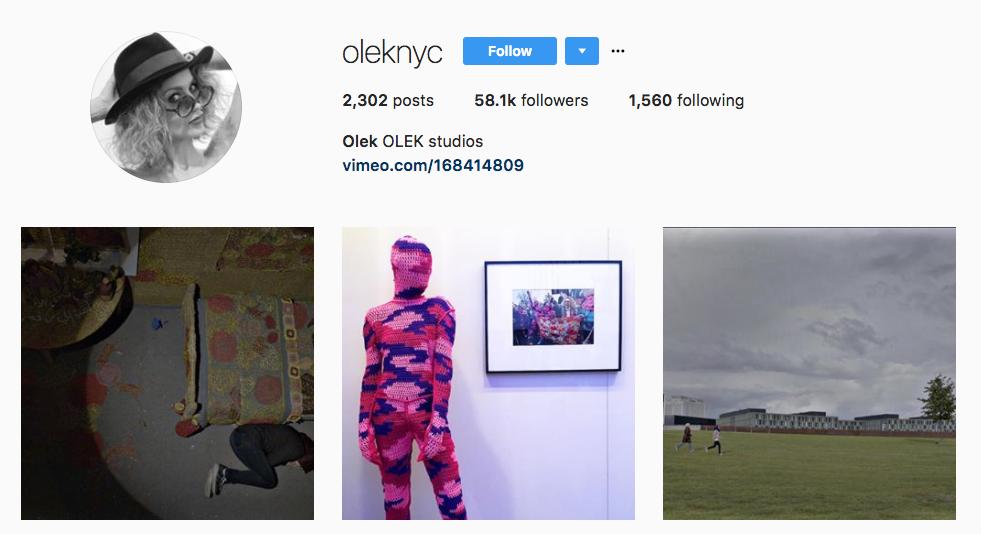 Olek Top Art Influencer