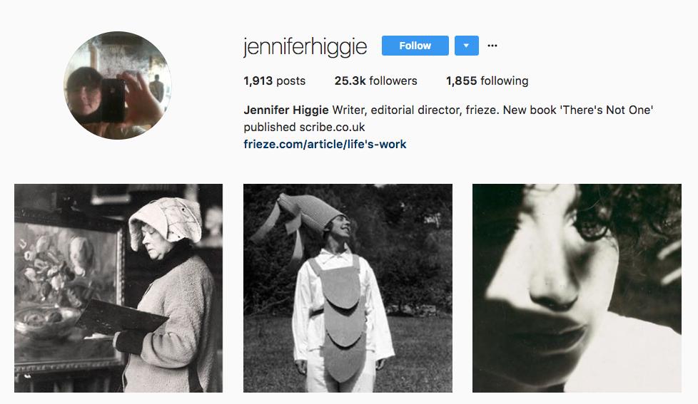 Jennifer Higgie top art influencer