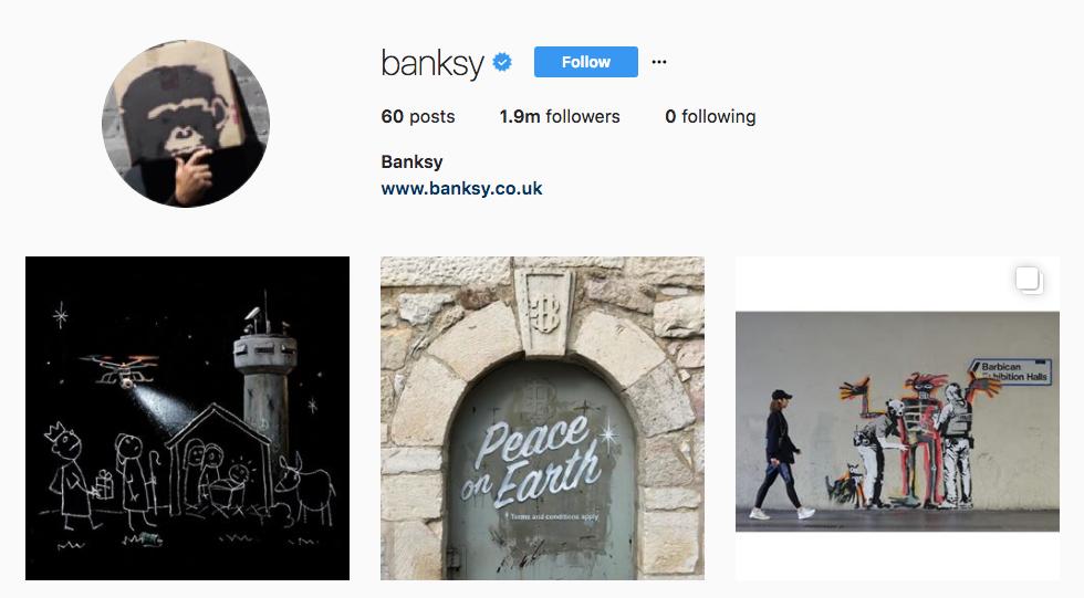 Banksy Top Art Influencer