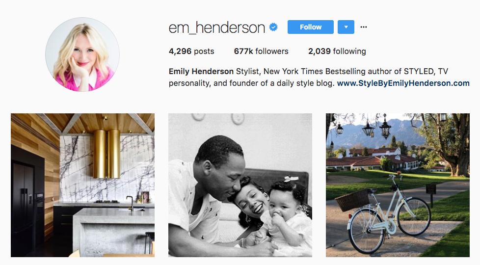 Emily Henderson Top Female Influencer