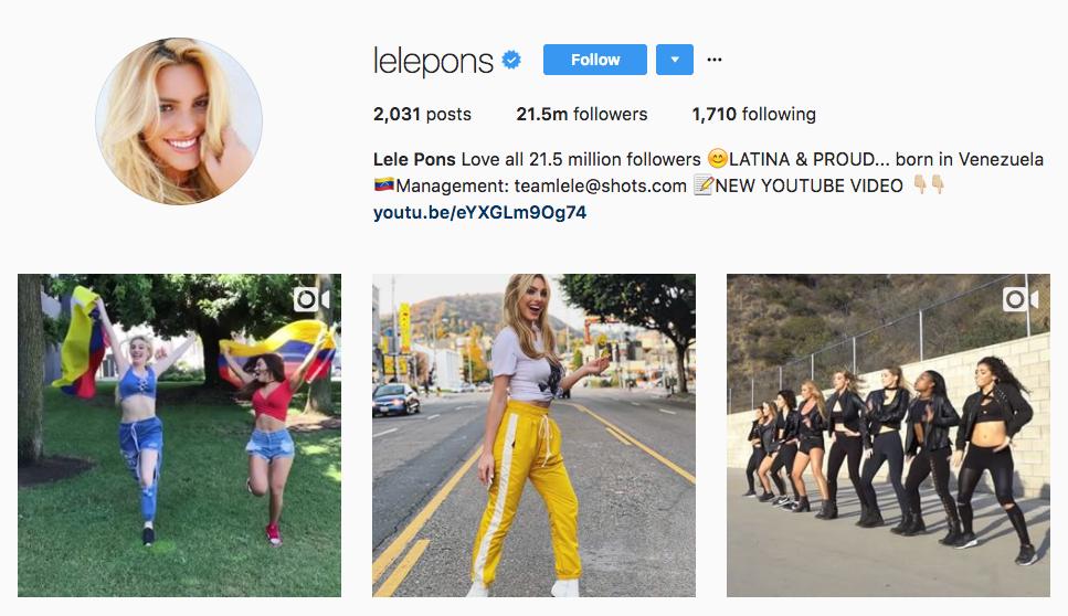 Lele Pons Top Female Influencer