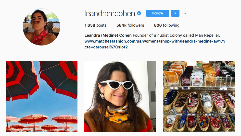 Leandra Cohen Top Female Influencer