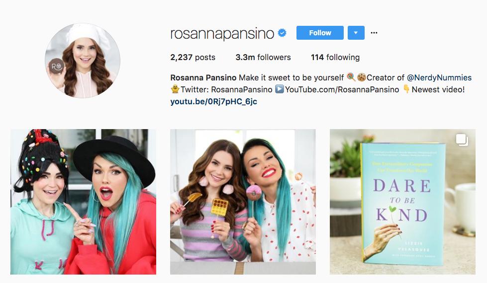 Rosanna Pansino Top Female Influencer