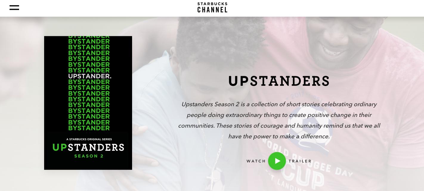 Starbucks Inspiring Content Marketing
