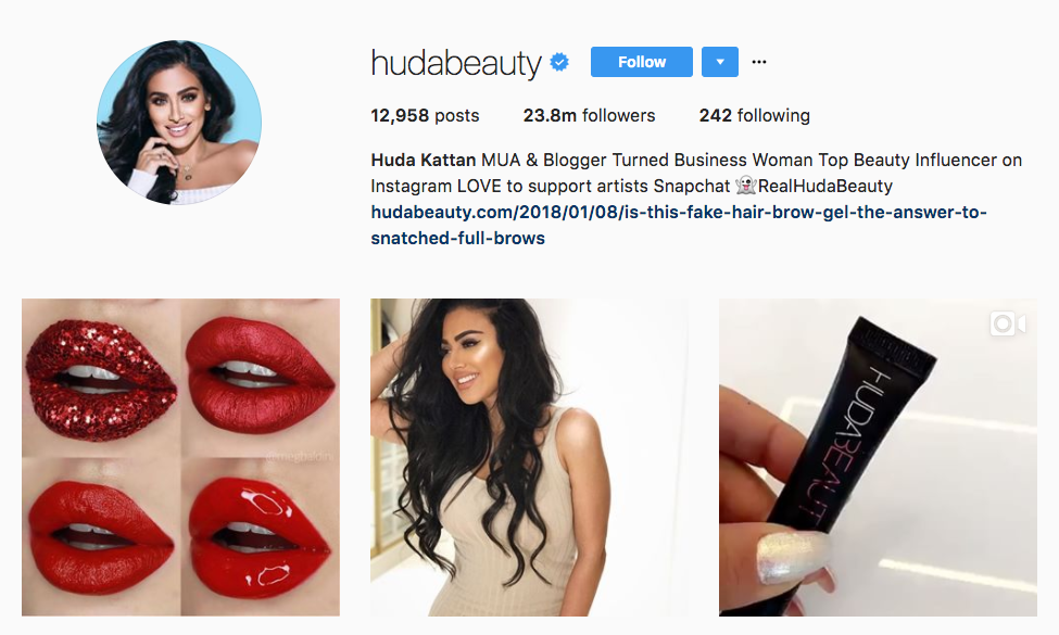 Huda Kattan Top Ecommerce Influencer