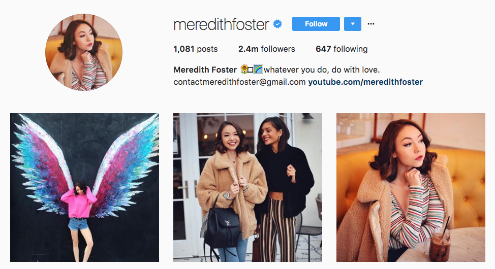 Meredith Foster Top Millennial Influencer