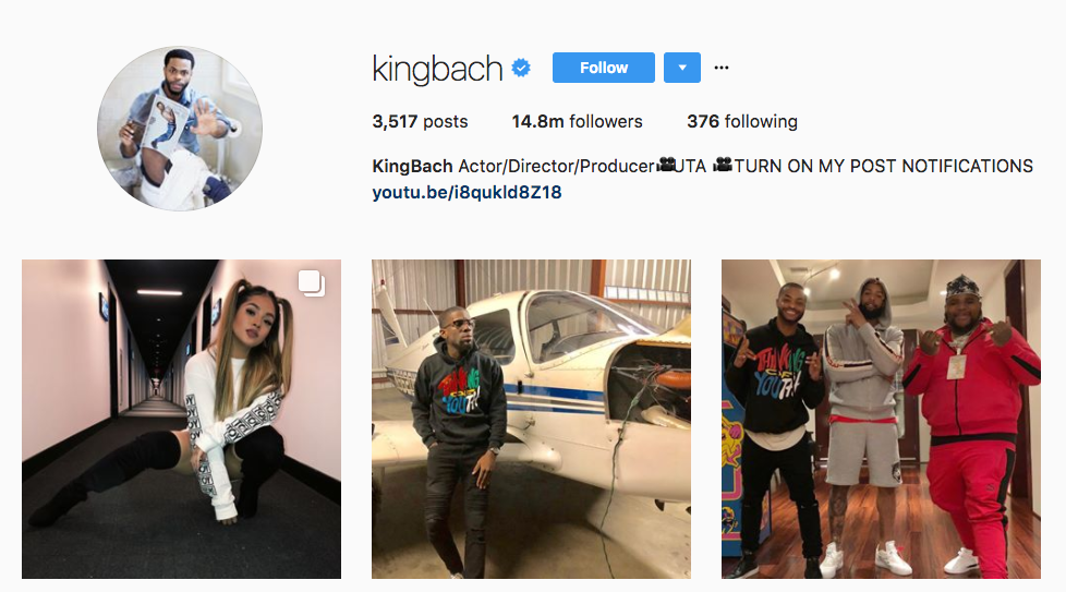 King Bach Top Millennial influencer