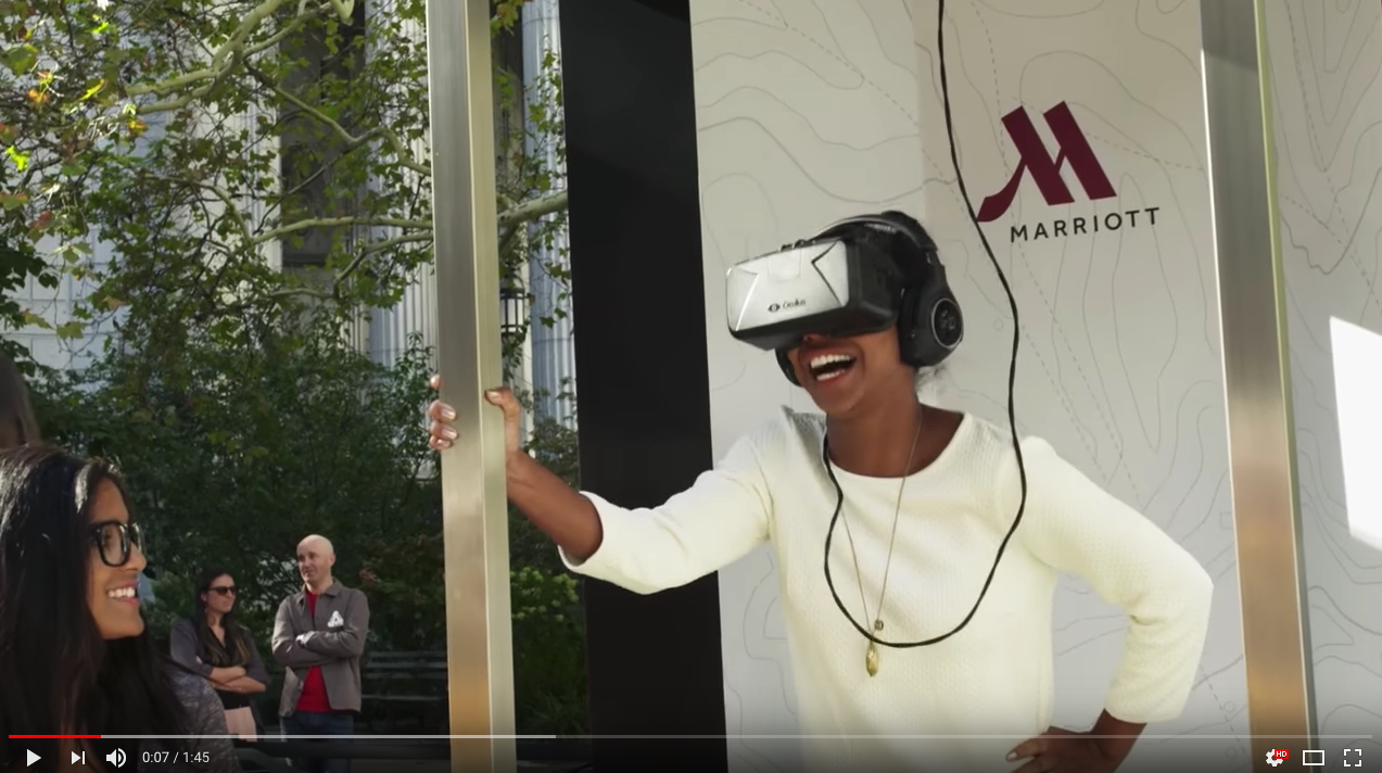 virtual reality content marketing marriott