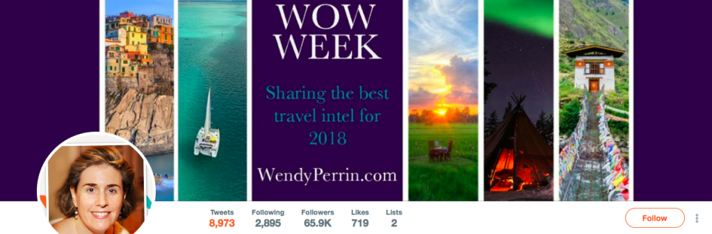 Wendy Perrin Top Travel Influencer on Twitter