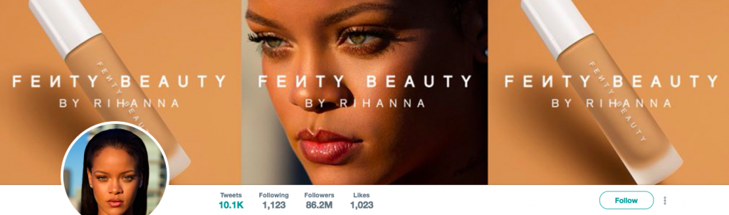 Rihanna Top Entertainment Influencer on Twitter