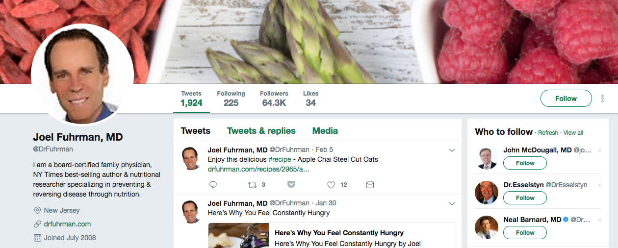 Joel Fuhrman Top Healthcare Influencer