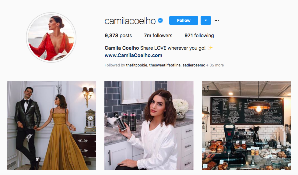 Camila Coelho top Latina Influencers