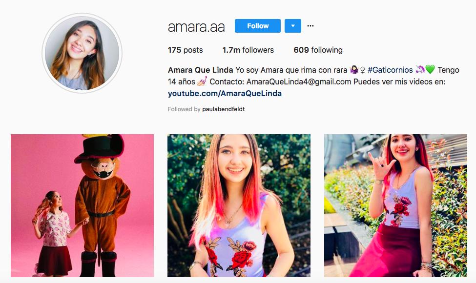 Amara Que Linda top Latina influencer