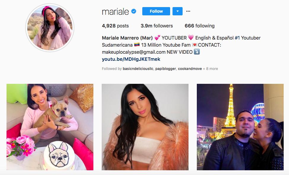 Mariale Marrero top Latina Influencer