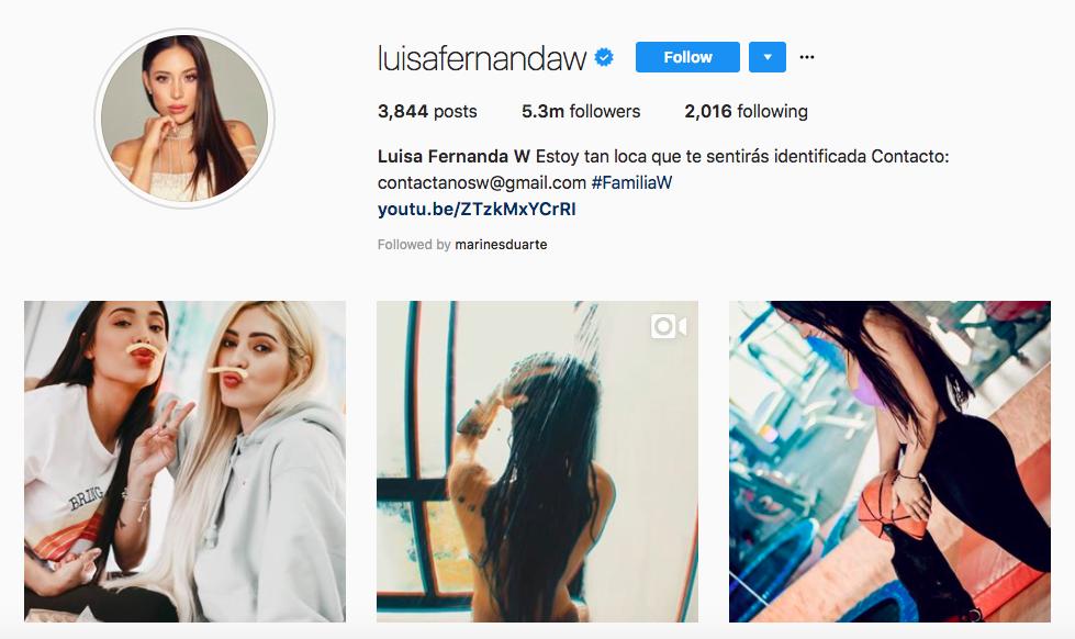 Luisa Fernanda top latina influencer