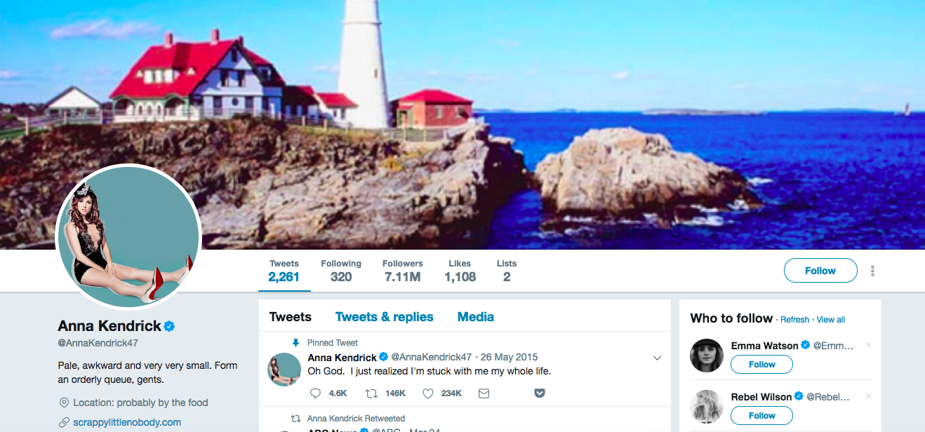 Anna Kendrick top female social media influencer