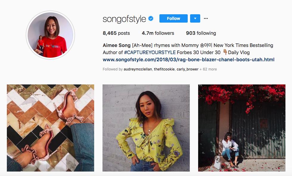 Aimee Song Top Female social media influencer