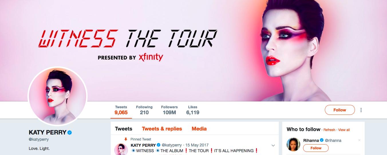Katy Perry Top Female Social Media Influencer