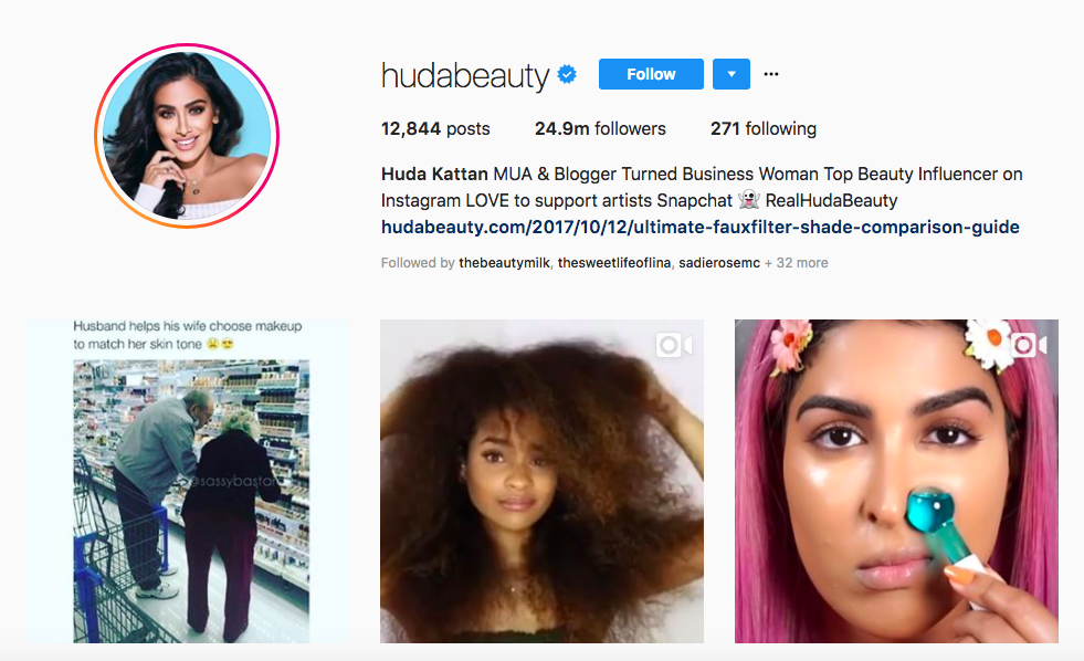 Huda Katan top female social media influencers