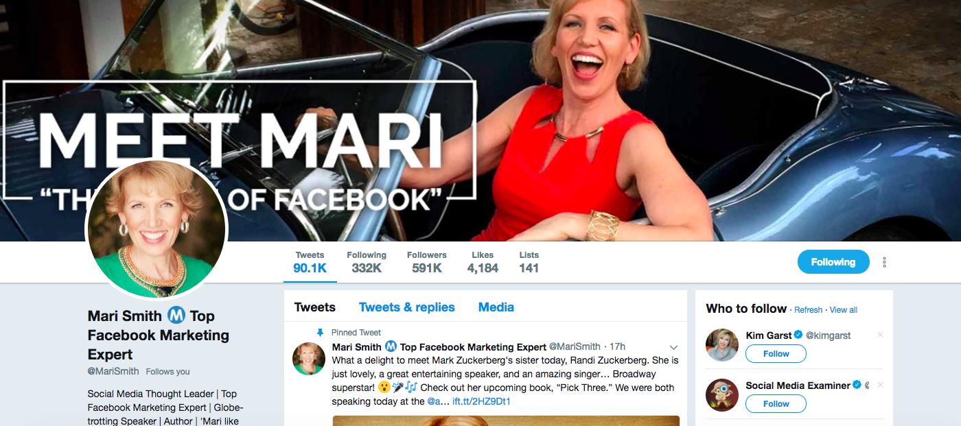 Mari Smith digital media influencers