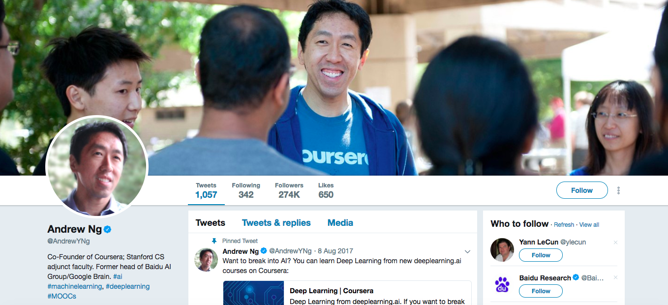 Andrew Ng Top Digital Media Influencers