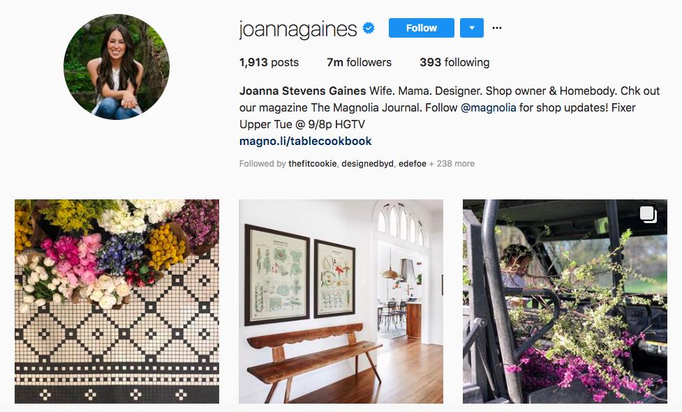 Joanna Gaines top Instagram Brand Influencer