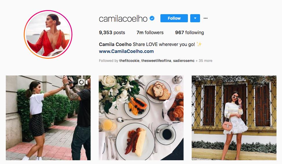 Camila Coelho Top Instagram Brand Influencer