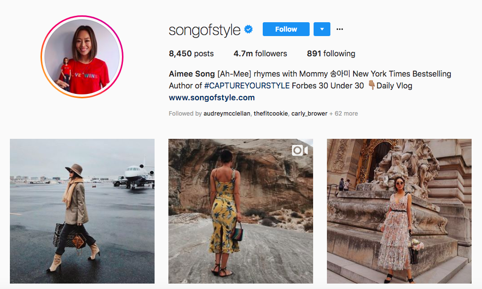 Aimee Song Top Instagram Brand Influencers