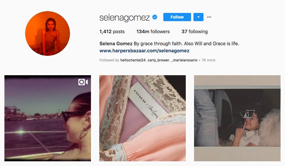 Selena Gomez Instagram Brand Influencers