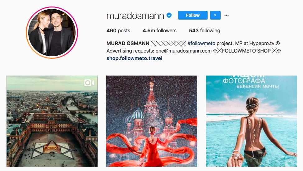 MURAD OSMANN best influencers 2017